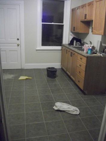 Kitchen Ceramic Tile Install