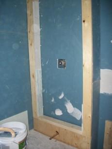 Drywall Install, Shower/ Bath Frame